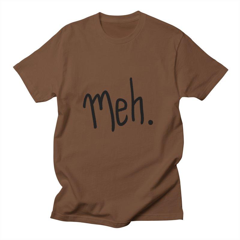 Meh Men's Regular T-Shirt by foxandeagle's Artist Shop