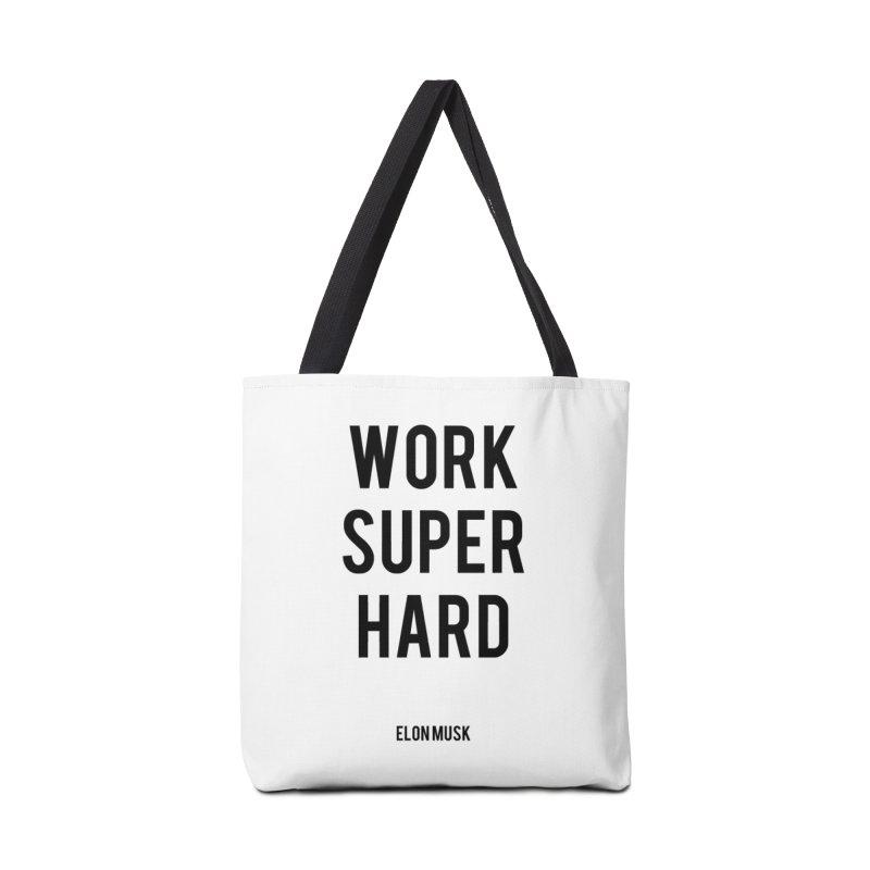 Work Super Hard Accessories Bag by foxandeagle's Artist Shop