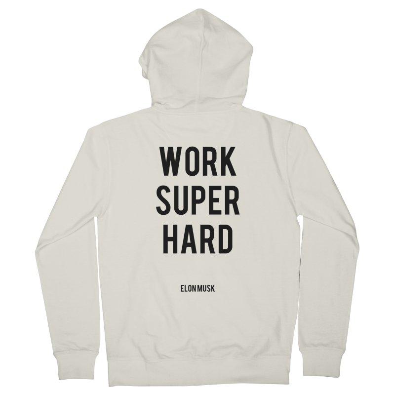 Work Super Hard Men's Zip-Up Hoody by foxandeagle's Artist Shop