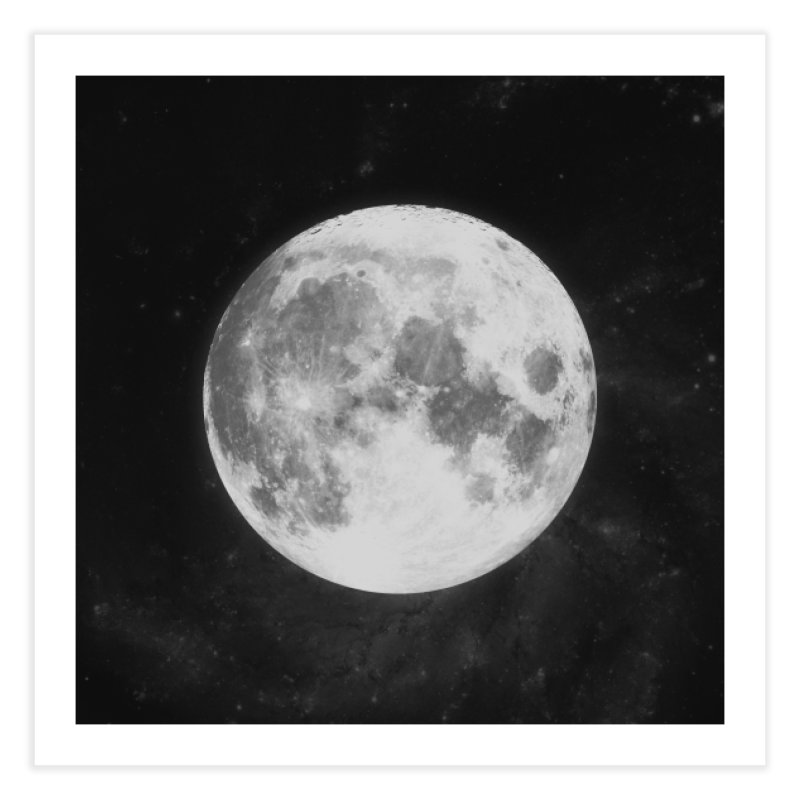 The Moon Home Fine Art Print by foxandeagle's Artist Shop