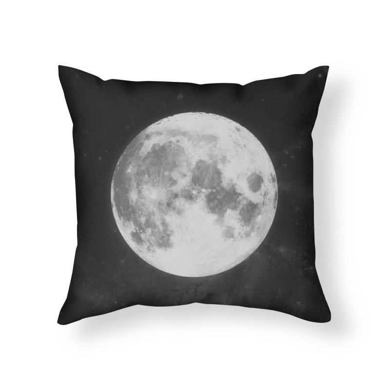 The Moon Home Throw Pillow by foxandeagle's Artist Shop