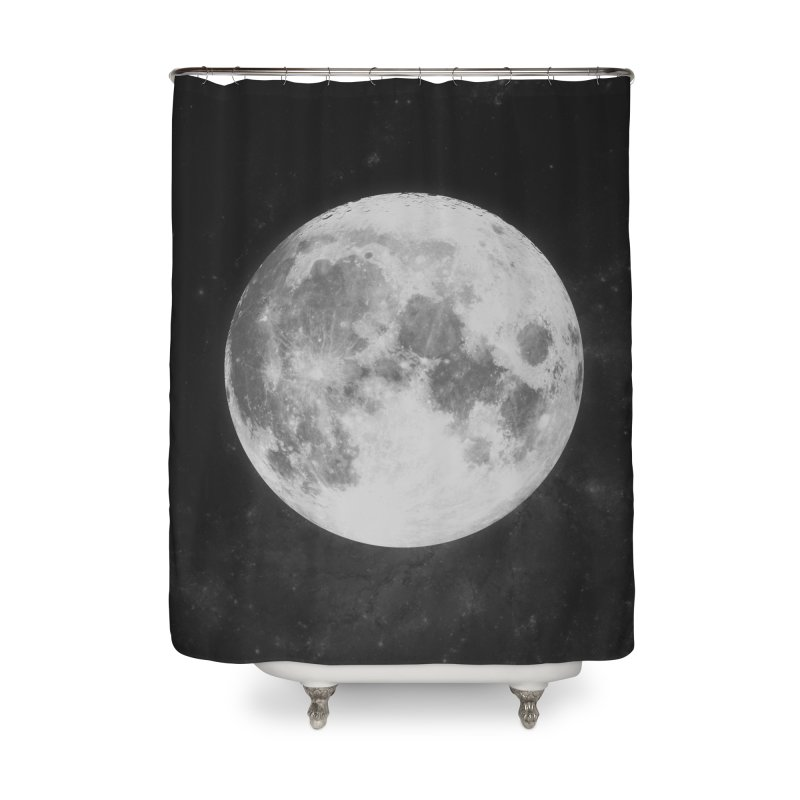 The Moon Home Shower Curtain by foxandeagle's Artist Shop