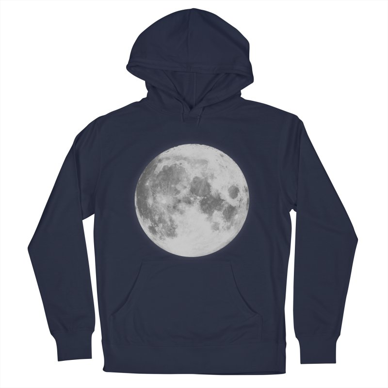 The Moon Men's French Terry Pullover Hoody by foxandeagle's Artist Shop