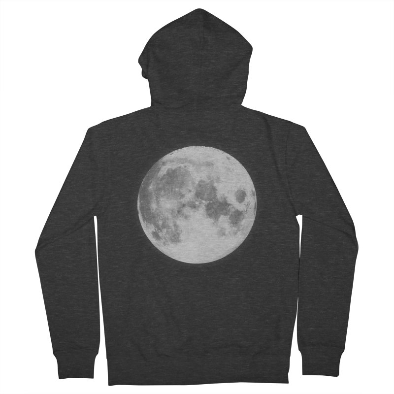 The Moon Women's Zip-Up Hoody by foxandeagle's Artist Shop