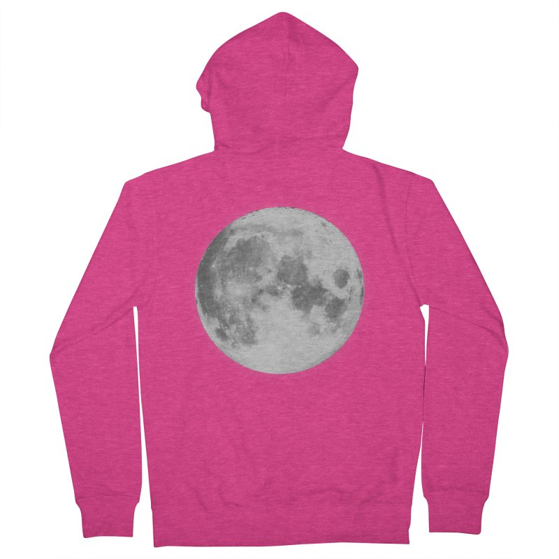 The Moon Women's French Terry Zip-Up Hoody by foxandeagle's Artist Shop