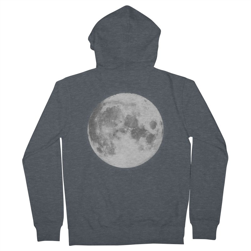 The Moon Men's French Terry Zip-Up Hoody by foxandeagle's Artist Shop