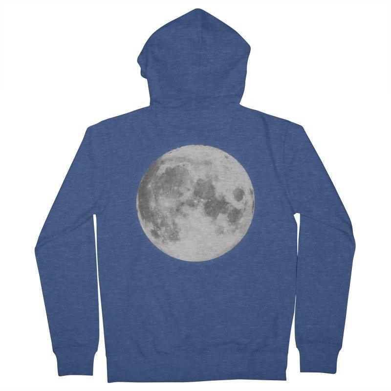 The Moon Men's Zip-Up Hoody by foxandeagle's Artist Shop
