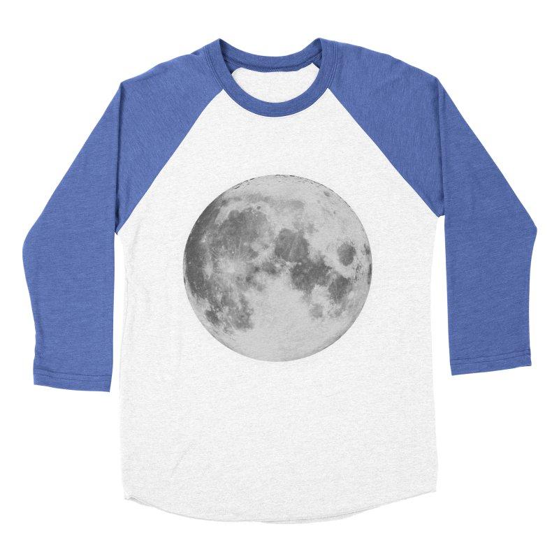 The Moon Women's Baseball Triblend Longsleeve T-Shirt by foxandeagle's Artist Shop