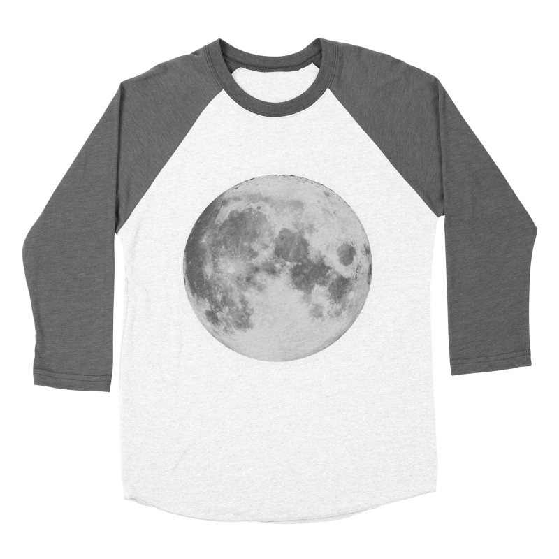 The Moon Women's Baseball Triblend Longsleeve T-Shirt by foxandeagle's Artist Shop