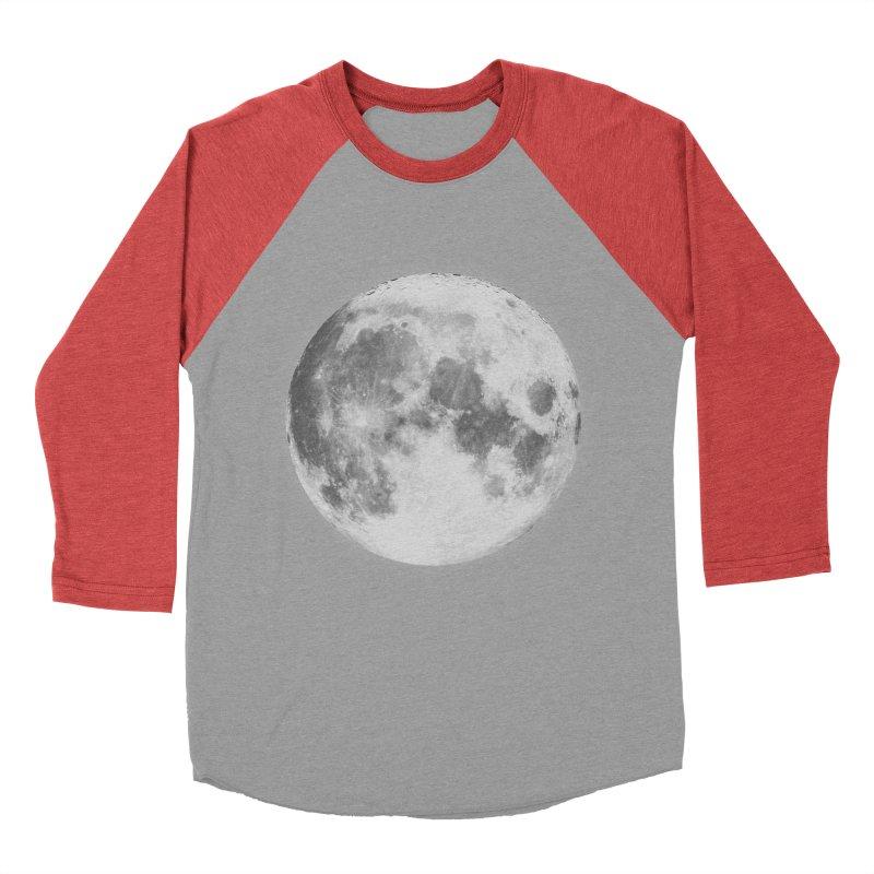 The Moon Women's Baseball Triblend T-Shirt by foxandeagle's Artist Shop