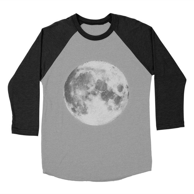 The Moon Men's Baseball Triblend Longsleeve T-Shirt by foxandeagle's Artist Shop