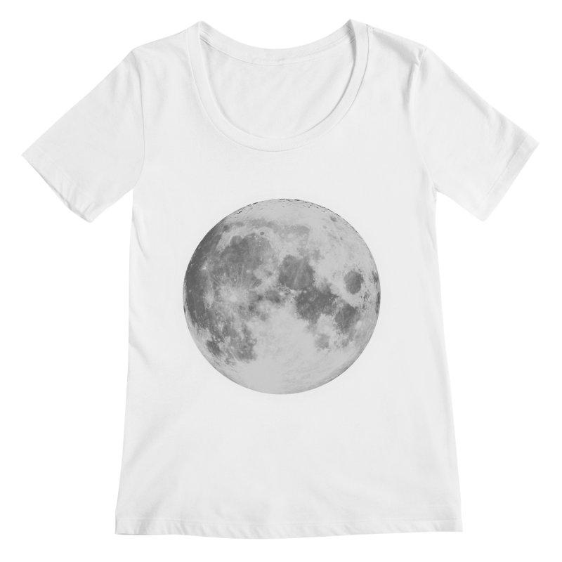 The Moon Women's Regular Scoop Neck by foxandeagle's Artist Shop