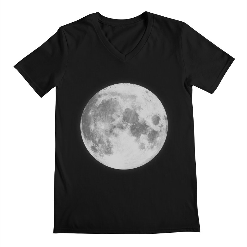 The Moon Men's V-Neck by foxandeagle's Artist Shop