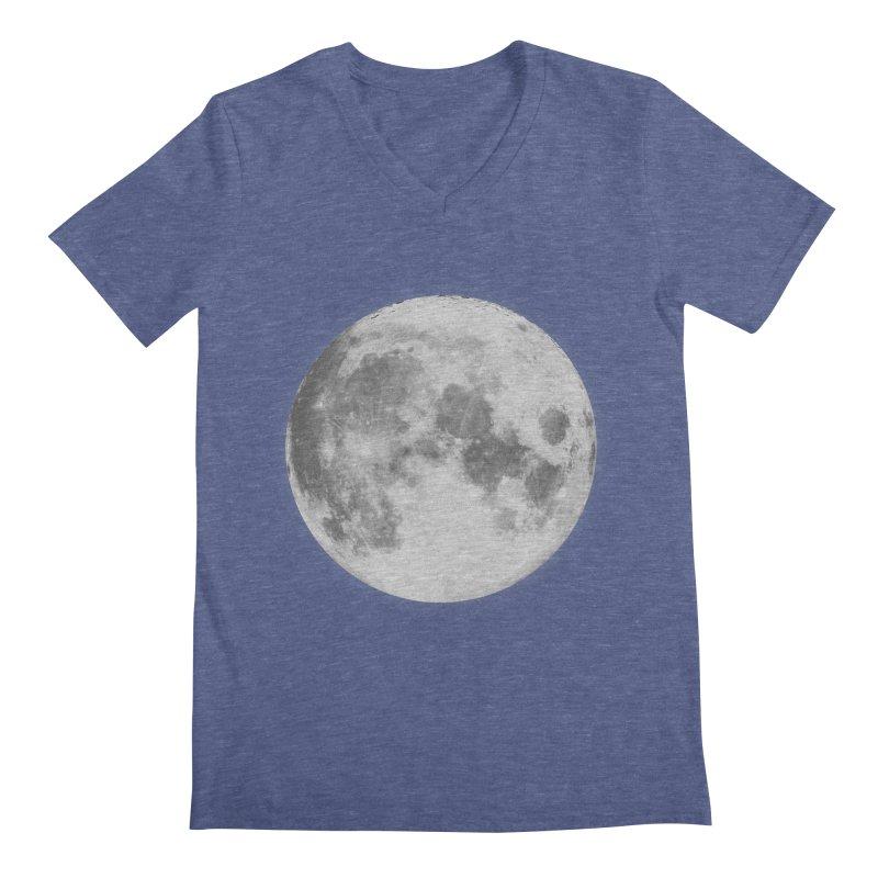 The Moon Men's Regular V-Neck by foxandeagle's Artist Shop