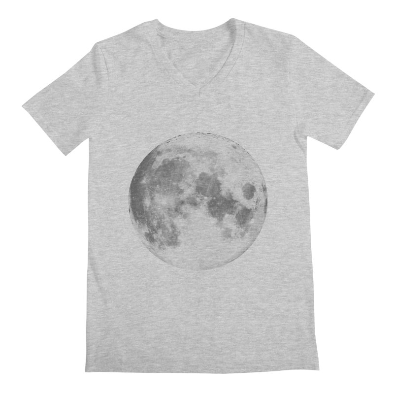 The Moon Men's V-Neck by foxandeagle's Artist Shop