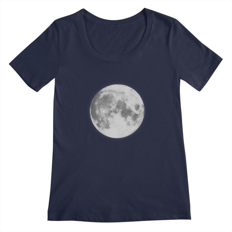 The Moon Women's Scoopneck by foxandeagle's Artist Shop
