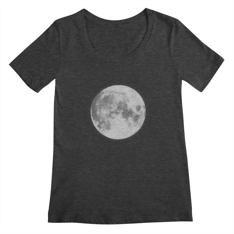 The Moon Women's Scoopneck by foxandeagle's Artist Shop