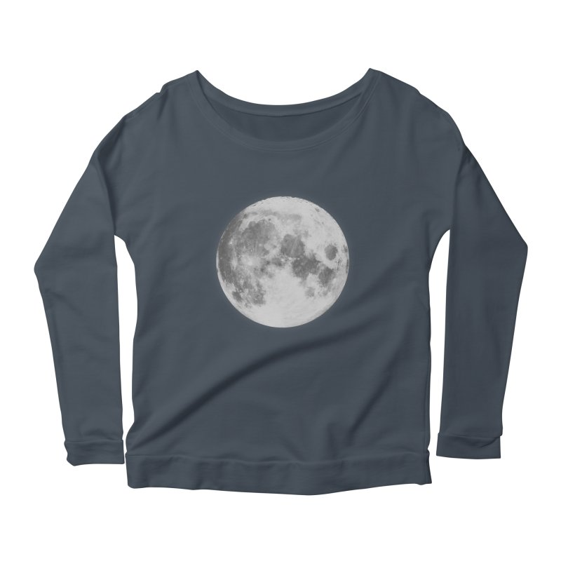 The Moon Women's Longsleeve Scoopneck  by foxandeagle's Artist Shop
