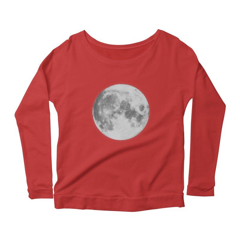 The Moon Women's Longsleeve Scoopneck  by foxandeagle's Artist Shop
