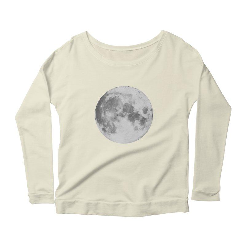 The Moon Women's Scoop Neck Longsleeve T-Shirt by foxandeagle's Artist Shop