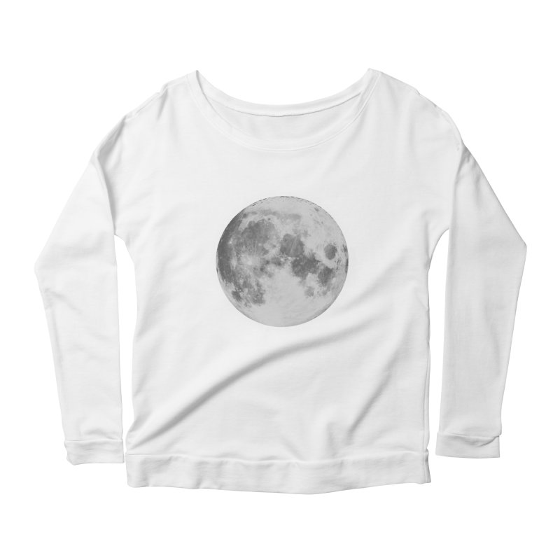 The Moon Women's Scoop Neck Longsleeve T-Shirt by foxandeagle's Artist Shop