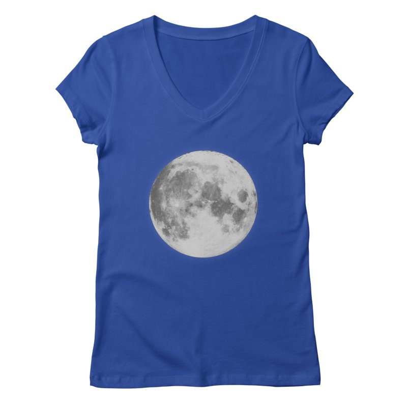 The Moon Women's Regular V-Neck by foxandeagle's Artist Shop