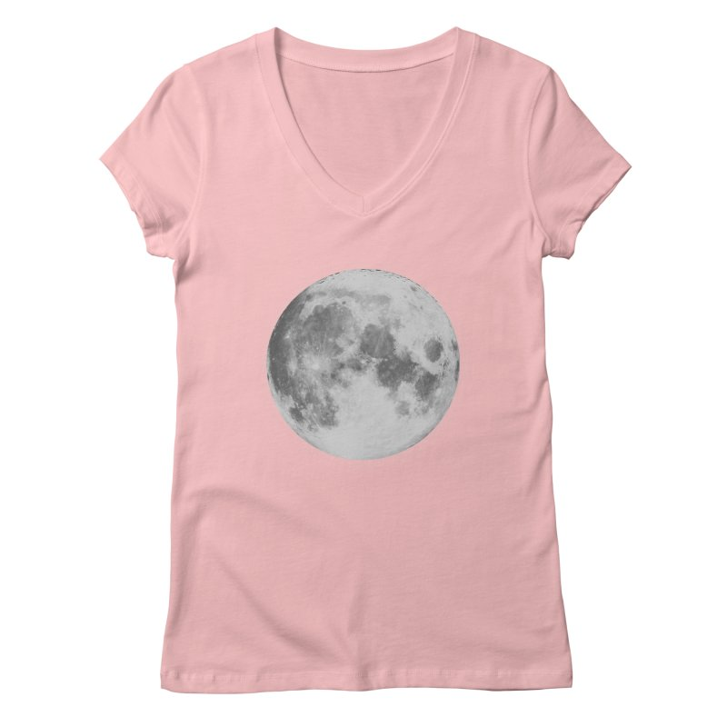 The Moon Women's V-Neck by foxandeagle's Artist Shop