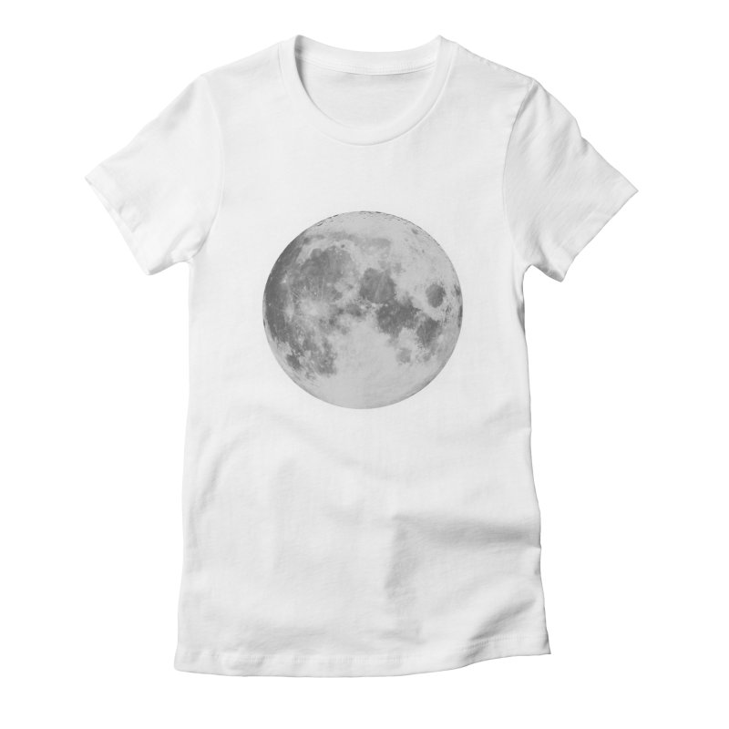 The Moon Women's Fitted T-Shirt by foxandeagle's Artist Shop