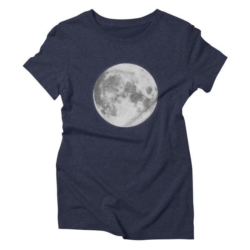 The Moon Women's Triblend T-shirt by foxandeagle's Artist Shop