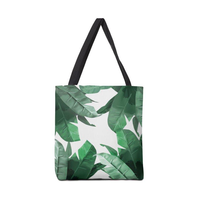 Tropical Palm Print Accessories Bag by foxandeagle's Artist Shop