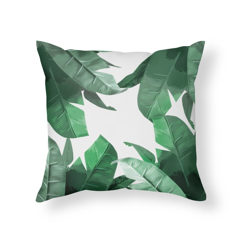 Tropical Palm Print Home Throw Pillow by foxandeagle's Artist Shop