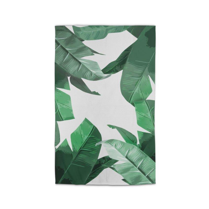 Tropical Palm Print Home Rug by foxandeagle's Artist Shop