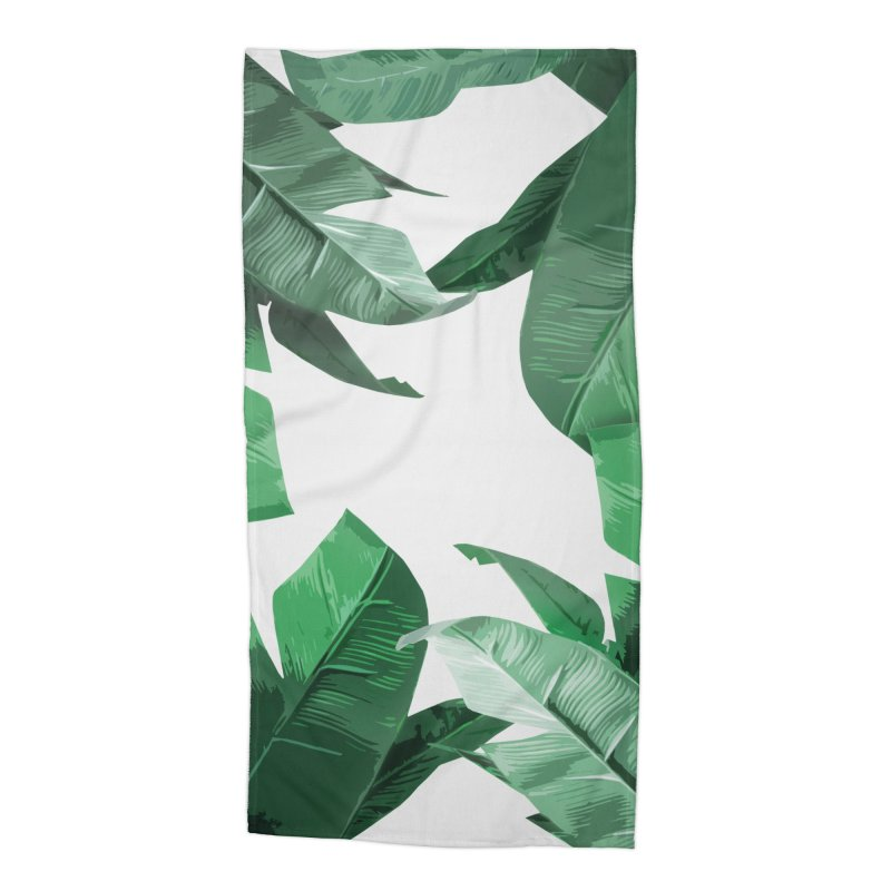Tropical Palm Print Accessories Beach Towel by foxandeagle's Artist Shop