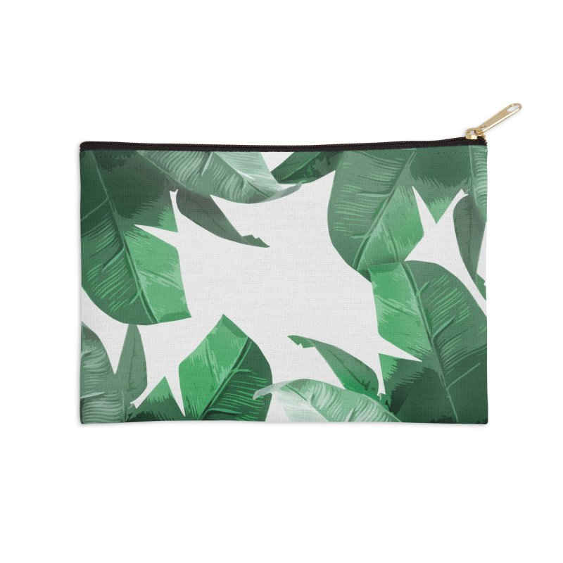 Tropical Palm Print Accessories Zip Pouch by foxandeagle's Artist Shop