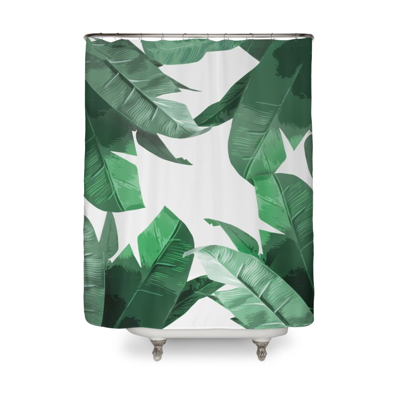 Tropical Palm Print Home Shower Curtain by foxandeagle's Artist Shop