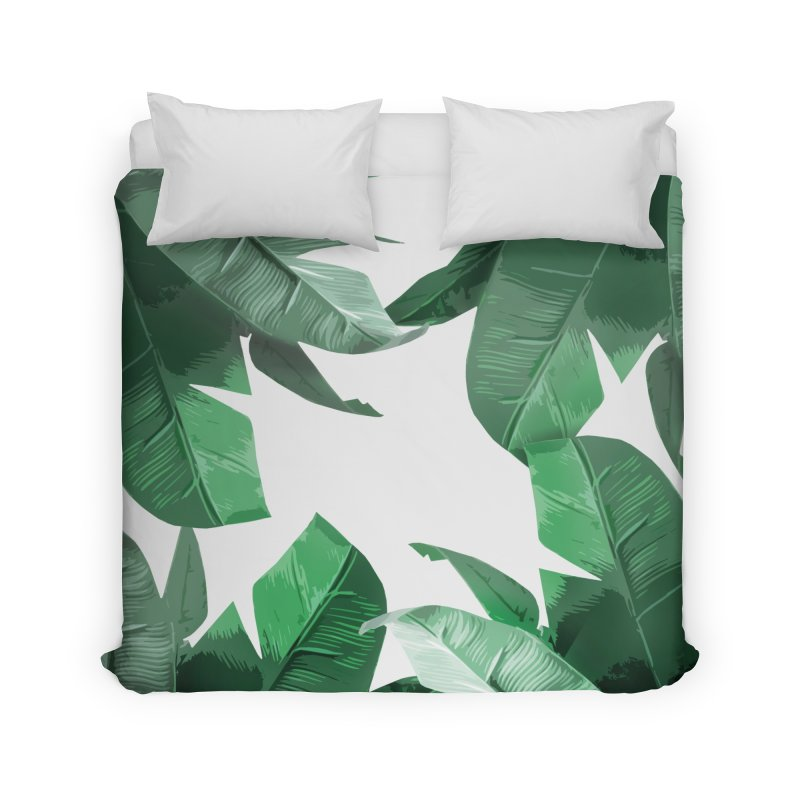 Tropical Palm Print Home Duvet by foxandeagle's Artist Shop