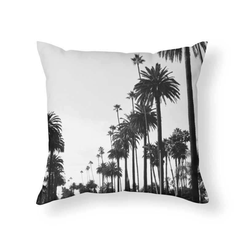 Los Angeles Home Throw Pillow by foxandeagle's Artist Shop