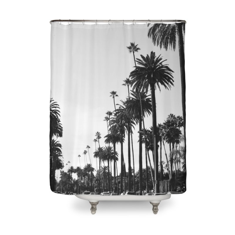 Los Angeles Home Shower Curtain by foxandeagle's Artist Shop
