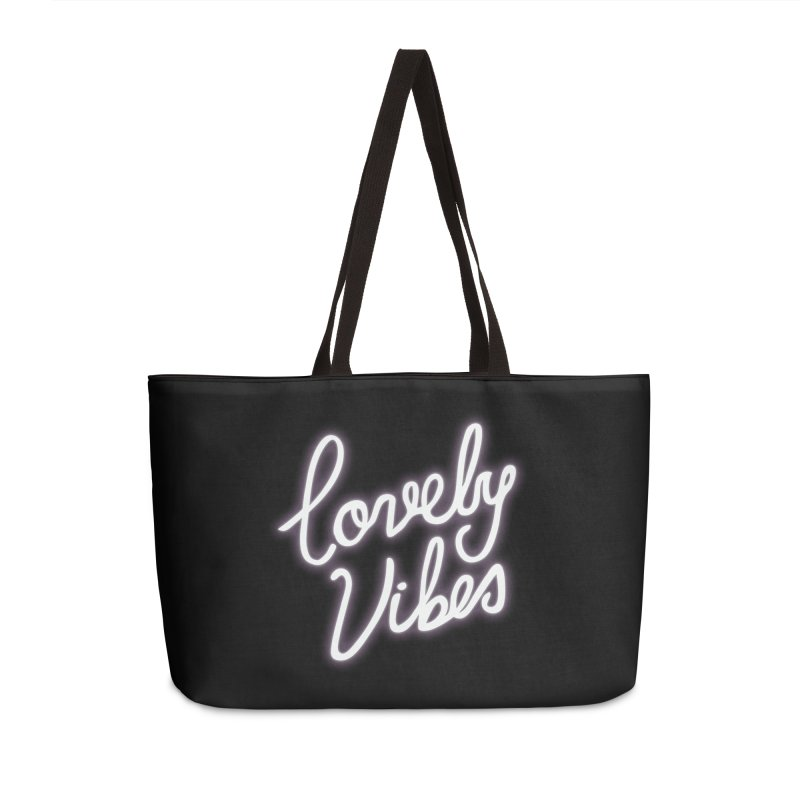 Lovely Vibes Accessories Weekender Bag Bag by foxandeagle's Artist Shop