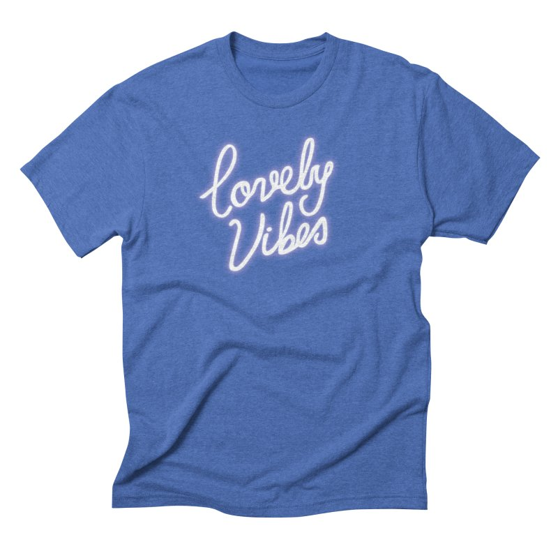 Lovely Vibes Men's Triblend T-Shirt by foxandeagle's Artist Shop
