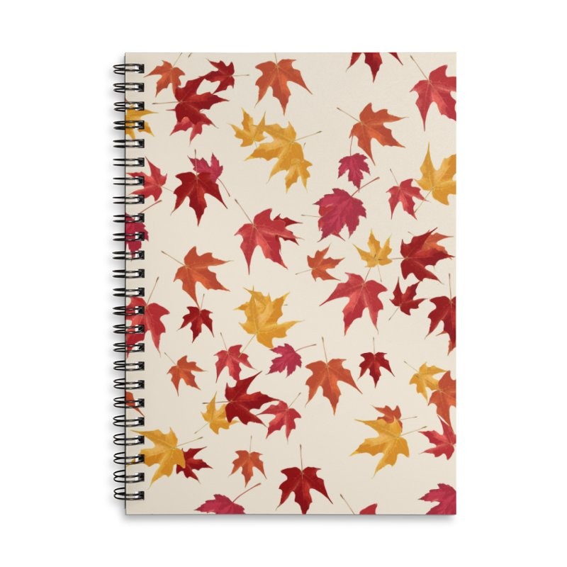 Fall Leaves Accessories Lined Spiral Notebook by foxandeagle's Artist Shop