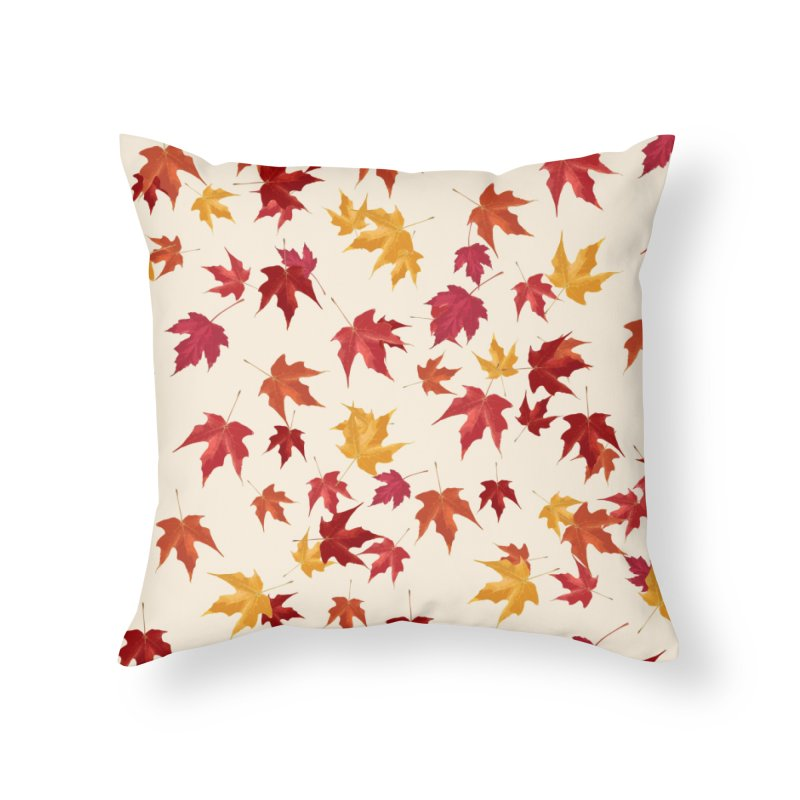 Fall Leaves Home Throw Pillow by foxandeagle's Artist Shop