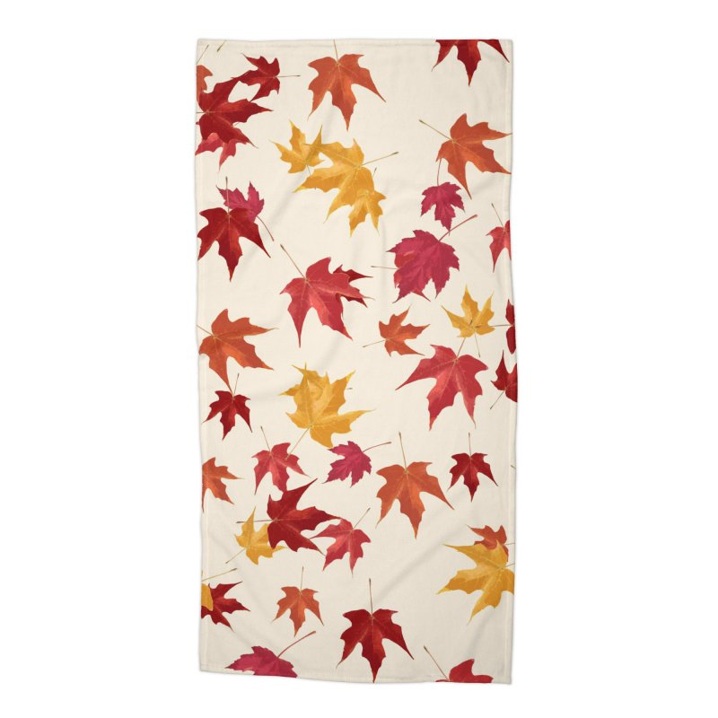 Fall Leaves Accessories Beach Towel by foxandeagle's Artist Shop