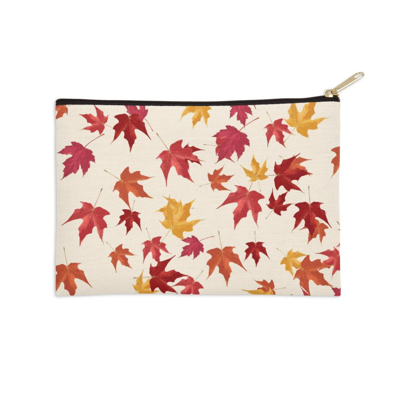 Fall Leaves Accessories Zip Pouch by foxandeagle's Artist Shop