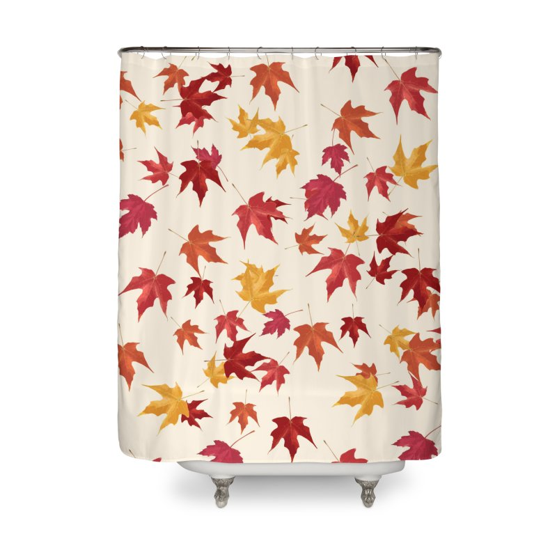 Fall Leaves Home Shower Curtain by foxandeagle's Artist Shop
