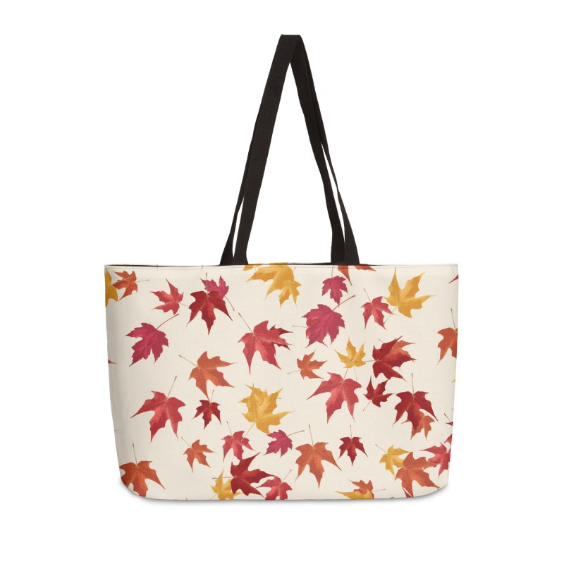 Fall Leaves Accessories Weekender Bag Bag by foxandeagle's Artist Shop