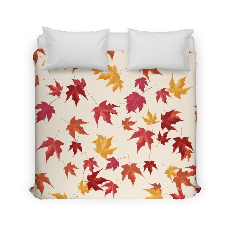 Fall Leaves Home Duvet by foxandeagle's Artist Shop