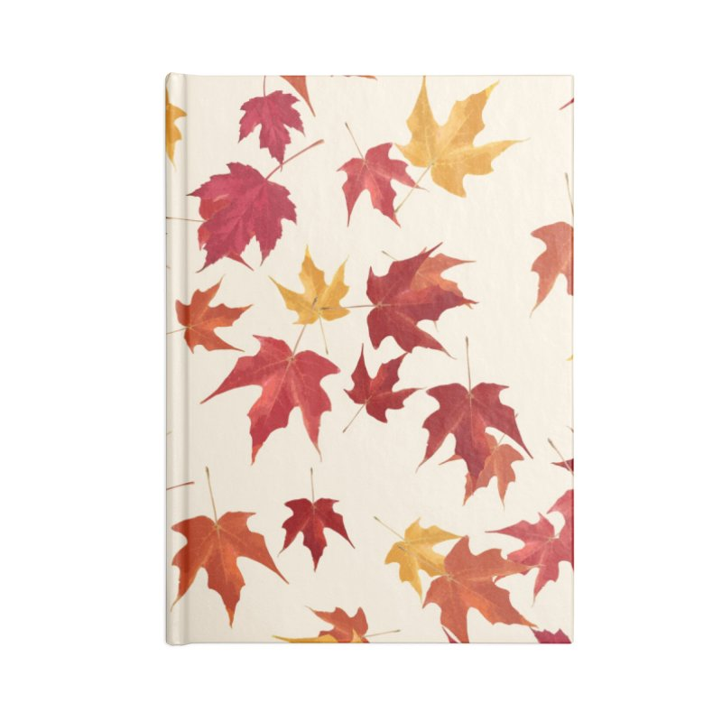 Fall Leaves Accessories Lined Journal Notebook by foxandeagle's Artist Shop