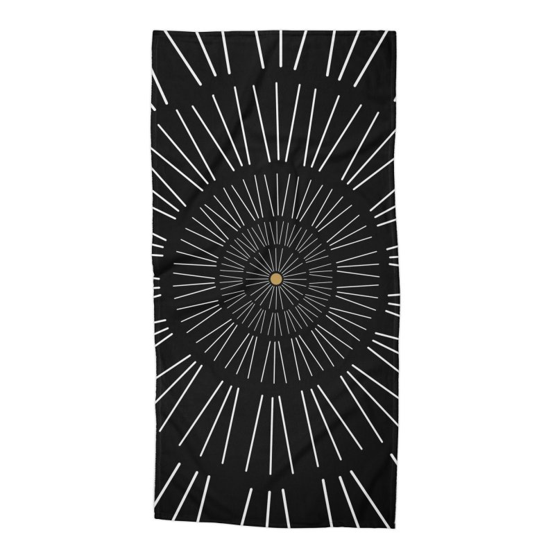 Iris Illustration Accessories Beach Towel by foxandeagle's Artist Shop
