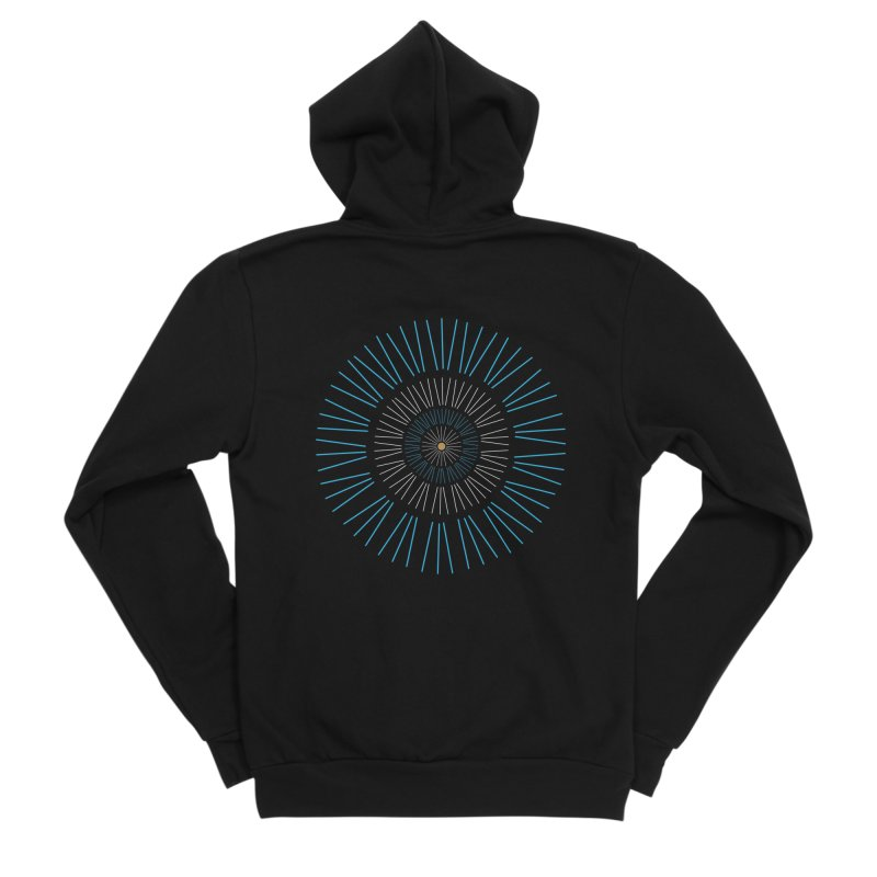 Iris Blue Women's Zip-Up Hoody by foxandeagle's Artist Shop
